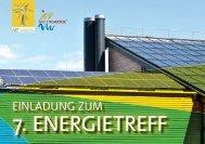 Einladung zum 7. Energietreff - bei der AEE Salzburg