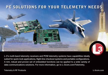 pc solutions for your telemetry needs - L-3 Communications