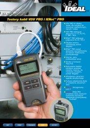 Testery kabli VDV PRO i IENet™ PRO - Farnell