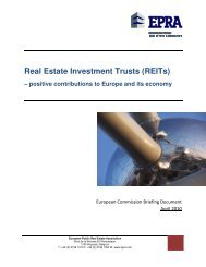 Real Estate Investment Trusts (REITs) - EPRA