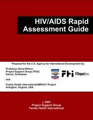 HIV/AIDS RAPID ASSESSMENT GUIDE