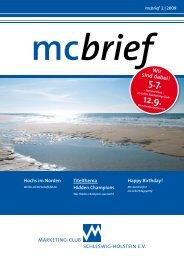 mcbrief Hochs im Norden - Marketing-Club Schleswig-Holstein eV
