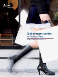 Global Opportunities in Fashion Retail 2011 - Apax Partners