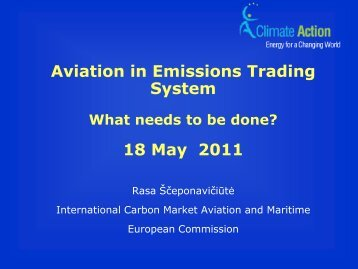 Aviation in Emissions Trading System: What needs to be ... - eBace