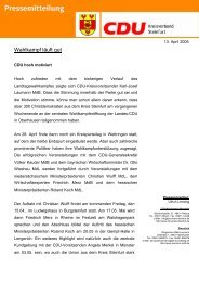 Wahlkampf läuft gut - CDU Kreisverband Steinfurt