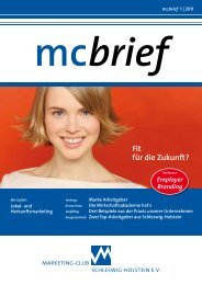 mcbrief - Marketing-Club Schleswig-Holstein eV