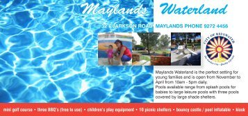 Maylands Waterland - City of Bayswater