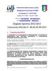 COMUNICATO n.08 del 03/09/2012 - FIGC