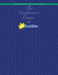 The Conference Center at - Stoweflake Mountain Resort & Spa