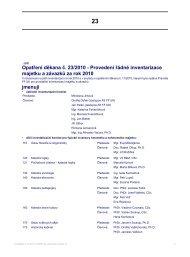 Opatření děkana č. 23/2010 - Provedení řádné inventarizace ...