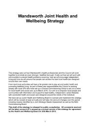 Wandsworth Joint Health and Wellbeing Strategy