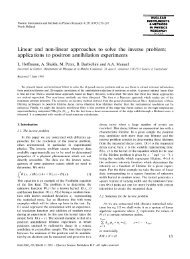 Linear and non-linear approaches to solve the inverse problem ...