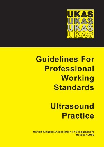 Guidelines For Professional Working Standards Ultrasound Practice