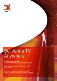 Delivering TV Anywhere - TV Connect