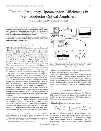Photonic frequency-upconversion efficiencies in semiconductor ...