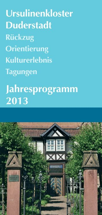 Programm_2013 - ursulinen-duderstadt