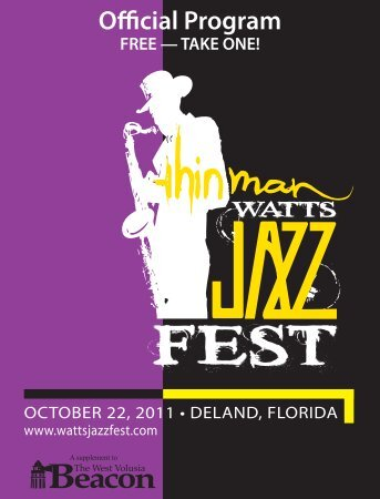 Thin Man Watts Jazz Festival 2011 - The West Volusia Beacon