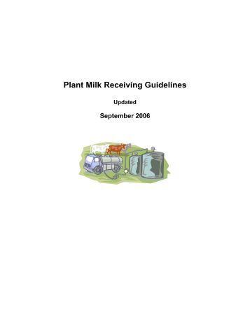 Plant Milk Receiving Guidelines - Dairy Farmers of Ontario