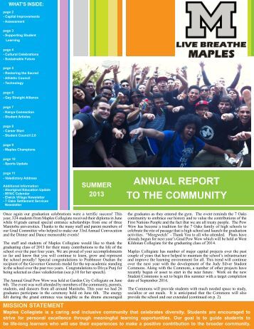 Report to the Community 2013.pdf - Seven Oaks School Division