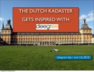 the dutch kadaster gets inspired with - Download - Deegree