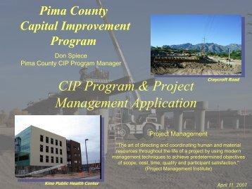 CIP Program & Project Management Application - RTA
