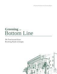 Consider, that Greening the bottom line
