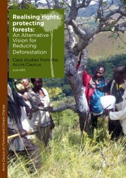 Realising rights, protecting forests: - Rainforest Foundation UK