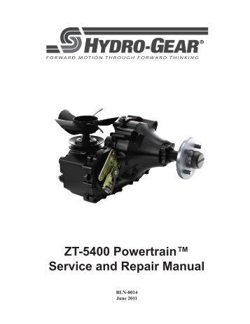 Hydro gear Zt 3100 Service manual