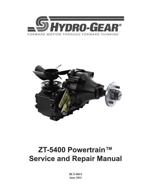 Hydro-Gear ZT-5400 transaxles manual - BIBUS France