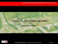 YorkU's concrete stories - EcoSmart Concrete