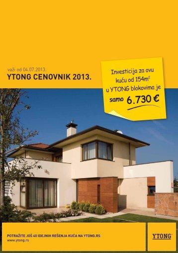 Cenovnik za Srbiju - Ytong