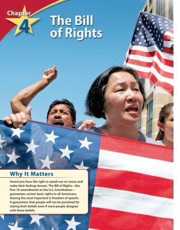 Chapter 4: The Bill of Rights - Wayne County Public Schools