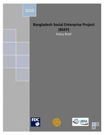 Bangladesh Social Enterprise Project - Bangladesh Enterprise Institute