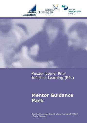Mentor Guidance Pack - Scottish Credit and Qualifications Framework