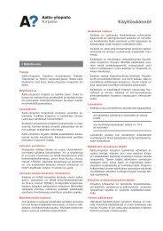 Aalto-yliopiston kirjasto käyttösäännöt 2011-08.indd
