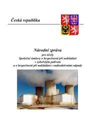 Národní zpráva ČR ke Společné úmluvě o bezpečném ... - SÚJB