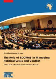 The role of ECOWAS in managing political crisis and conflict : the ...