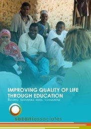 IMPROVING QUALITY OF LIFE THROUGH EDUCATION - Sazani ...