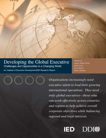 Developing the Global Executive - Development Dimensions ...