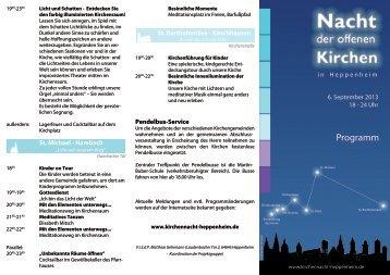 Programm - Die Nacht der offenen Kirchen 2013
