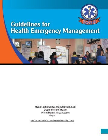 Guidelines on Health Emergency Management Manual for ...