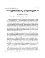 Population structure and sex-ratio of Mallotus philippensis Muel. Arg ...