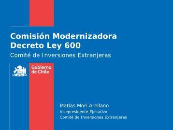 Comisión Modernizadora Decreto Ley 600 - Amcham Chile