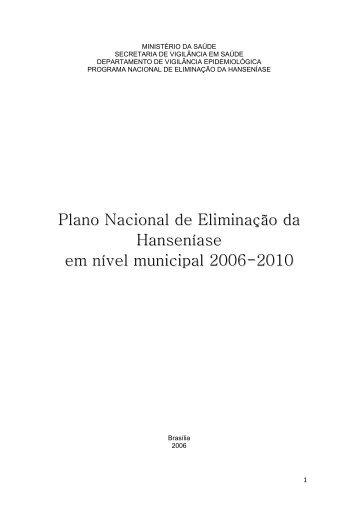 Plano Nacional de Eliminação da Hanseníase em nível municipal ...