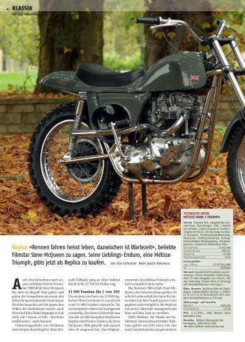 Alan Cathcart/dr Bilder - Moto Sport Schweiz