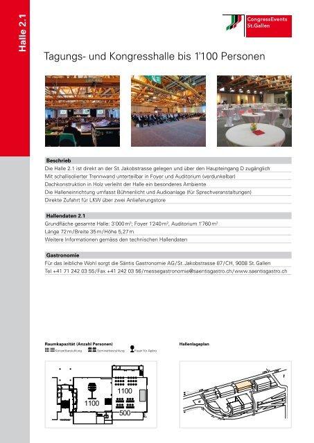 Tagung und Kongress bis 1100 Personen - CongressEvents St. Gallen