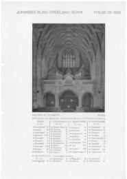 Folge 25 / 1932: Aachen St. Elisabeth - Orgelbau Klais Bonn