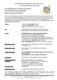 bitte hier klicken - Bayerische Sportjugend BSJ - Kreis Nürnberg