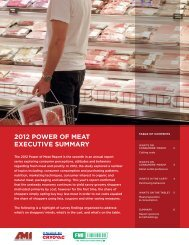 2012 Power of Meat executive SuMMary - Food Marketing Institute