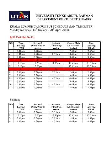 universiti tunku abdul rahman department of student affairs